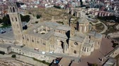 katalán : Aerial view of the cityscape of Lleida and main historical sightseeing Old Gothic Cathedral, Catalonia, Spain