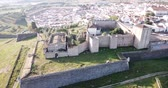 ziegeldach : View from drone of famous landmark castle of elvas