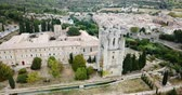 world locations : Abbey Sainte-Marie dOrbieu Aerial View Stock Footage