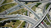 View on car interchange of Barcelona in the Spain. Vídeos