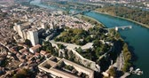 Avignon with Gothic Palace of Papes