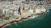 Video of aerial view of residence in Sitges, Spain Vídeos