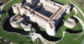 Beautiful panoramic view from drone of Forteresse de Salses, France Vídeos