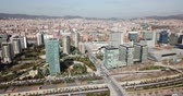 Image of european city Barcelona with view of blocks of flats, Spain