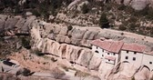 Impressive religious complex Sanctuary Mara de Balas built in rock, Sorita, Castellon, Spain 무비클립