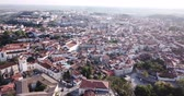 world locations : Aerial panoramic view of Santarem city with buildings and landscape, Portugal