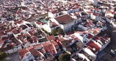 Panoramic view of old town quarters of Elvas, Portugal 무비클립