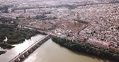 Aerial view of the Mosque of Cordoba, Spain