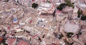 Aerial view of Requena, Spain 무비클립