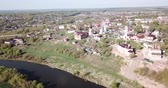 Panoramic aerial view of the city of Tula region, Russia 무비클립