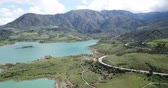 andalusier : Panoramic view over Embalse de Zahara inland, Andalusia, Spain