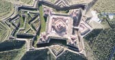 построен структуры : Aerial view of Nossa Senhora da Graca, famous landmark in Elvas, Portugal