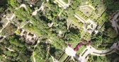 garden paths : Parque de Maria Luisa - Maria Luisa Park in Seville, view from above. Andalusia, Spain
