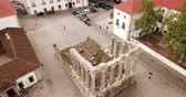 classicism : Ruins of ancient Roman temple of the city of Portugal