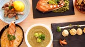 zupa rybna : Tasty dishes of Norwegian cuisine with salmon
