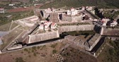 бастион : Aerial view of finest example of trace italienne in military architecture  - star-shaped Conde de Lippe Fort in Portuguese municipality of Elvas
