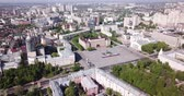 администрация : Panoramic day view of Voronezh city center and Lenin square, Russia Стоковые видеозаписи