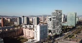 카탈 루나 : Barcelona, Spain - March 05, 2019: Modern high-rise buildings in the coastal residential areas of Diagonal Mar and Poblenou