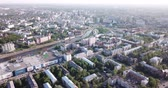 tereprendezés : IVANOVO, RUSSIA - MAY 10, 2019: Aerial panoramic view of Ivanovo cityscape on banks of Uvod River in spring day