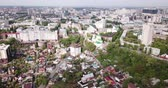 tereprendezés : View from drone of historic center and modern residential areas of Voronezh city, Russia Stock mozgókép