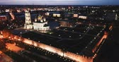 ortodoxie : Aerial view of Kremlin and the Assumption Church in Tula in the evening Dostupné videozáznamy