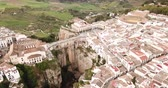 el : Aerial view of ancient city of Ronda located on two edges of gorge with Guadalevin river, Andalusia, Spain