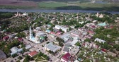 taşra : Scenic landscape of Kashira town on bank of Oka River on summer sunny day, Russia