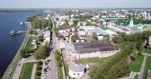 retailers : Aerial view of Kostroma cityscape overlooking ancient Gostiny Dvor and Saviour church, Russia