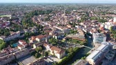 exteriéry : Scenic cityscape from drone of Italian town of Portogruaro in sunny day, Veneto, Italy