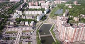 administrativo : Scenic view from drone of modern cityscape of Russian city of Chekhov Vídeos