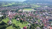 szlovénia : Picturesque top view of city Vrhnika. Republic of Slovenia