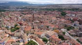 juni : Aerial view on the city Calatayud. Zaragoza. Spain Stockvideo
