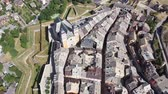 augusztus : Aerial view on the city Briancon. France