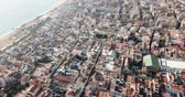 типичный : Aerial view of the Mediterranean coast of Badalona. Spain