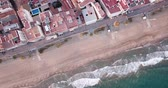habitação : Panoramic aerial view of  coast line at Calafell  with view of blocks of flats, Spain