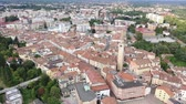 augusztus : Picturesque top view of city Pordenone. Italy
