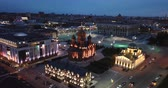 bizantino : Night aerial view of illuminated Tula cityscape overlooking Holy Assumption Cathedral, Russia