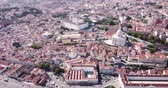 world locations : Aerial panoramic view of  Lisbon city with National Pantheon, Portugal