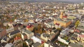 architectural : Panoramic aerial view of autumn landscape of Czech city of Jablonec nad Nisou, Liberec Region