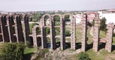 Famous landmark in Merida - Aqueduct of the Miracles, Spain