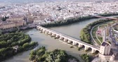 Panoramic top view of historical center of Cordoba city, Spain 影像素材