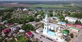Panoramic view of Kashira town with Orthodox churches, Russia