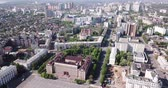 administrativo : Panoramic aerial view of center of Russian city of Voronezh and Lenin Square in summer day