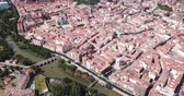 juni : Aerial view on the city Palencia. Spain
