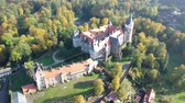 pannendak : Panoramic view of medieval Zleby castle in Czech Republic