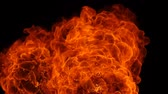 impacto : Slow motion of fire blasts isolated on black background.