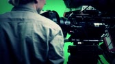 produkcja : professional  green screen film set for hollywood movie Wideo