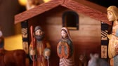 cow birth : A beautiful hand carved and painted Nativity Creche