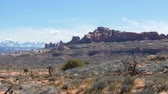 sal : Beautiful views of redrock arches and formations in Arches National Park in Souther Utah, USA.