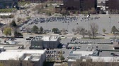 уличный свет : An aerial view of city traffic and people in Salt Lake City Utah
